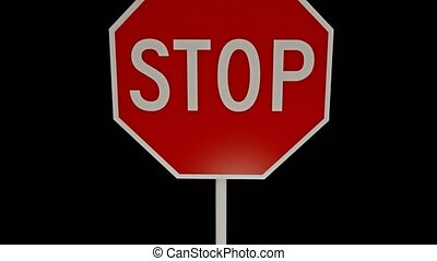 3D stop sign with alpha channel. 15. - 3D stop sign with...