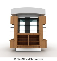 3d store furniture display shelf