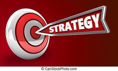 3d strategy arrow