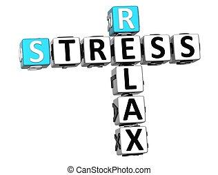 3D Stress Relax Crossword cube words