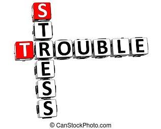 3D Stress Trouble Crossword