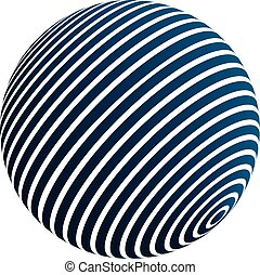 3d striped sphere
