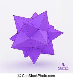 3d structure background. Vector illustration.