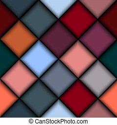 3d, struttura, di, blocchi colorati