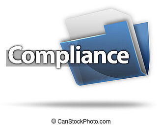 "3D Style Folder Icon ""Compliance"""