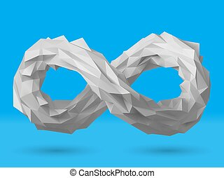 3d style infinity symbol vector design.