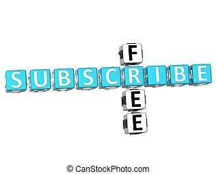 Subscribe Free Crossword - 3D Subscribe Free Crossword on ...