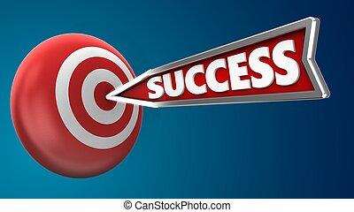 3d success arrow