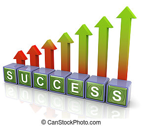 3d success arrows