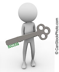 3d successful man