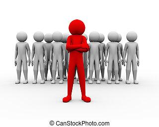 3d successful red man team leader