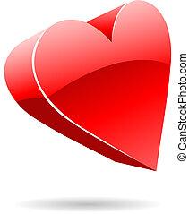 3d suit hearts