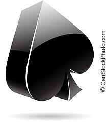 3d suit spades