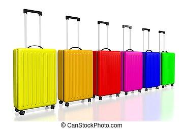 3D suitcases concept