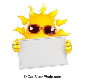 3d Sun banner