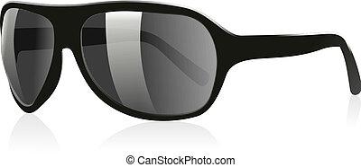3D Sun Glasses 02 - 3D Illustration of a pair of black ...