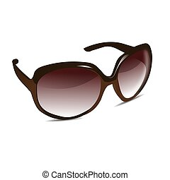 3D Sun Glasses - Illustration of a pair of sun glasses