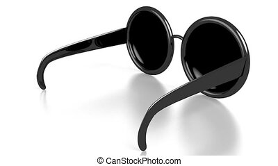 3D sunglasses on white background