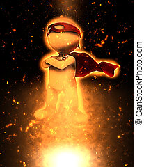 3D superhero image