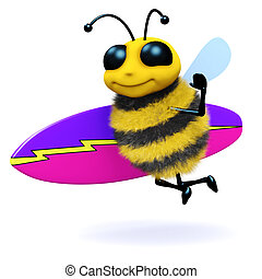 3d Surfer bee
