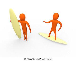 3d Surfers #1