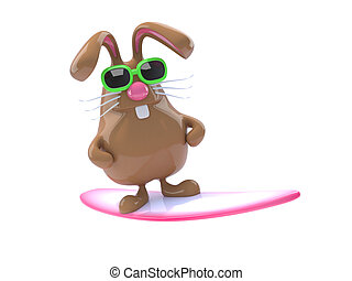3d Surfing bunny