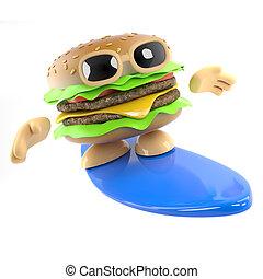 3d Surfing burger