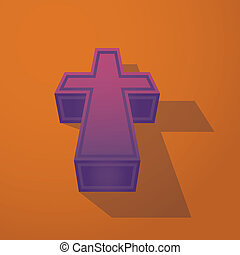3d symbol christian cross - illustration