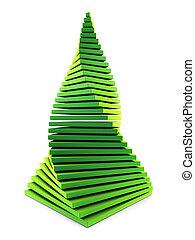 3d symbolic New Year\'s fir tree - symbolic chistmas tree 3d...