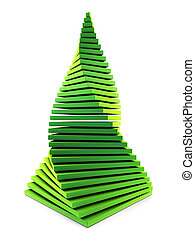 3d symbolic New Year\'s fir tree - symbolic chistmas tree 3d...