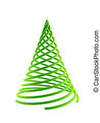 3d, symbolique, arbre noël