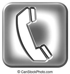 3d, téléphone, argent, signe