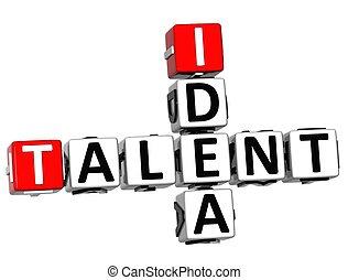 3D Talent Idea Crossword