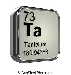 3d Tantalum element - 3d render of tantalum element design
