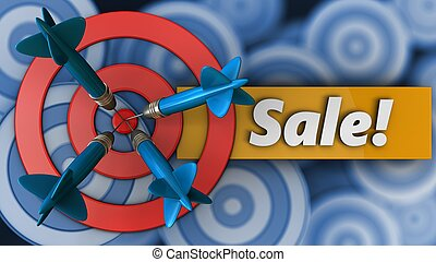 3d target circles with sale