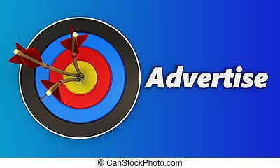 3d target with advertise sign