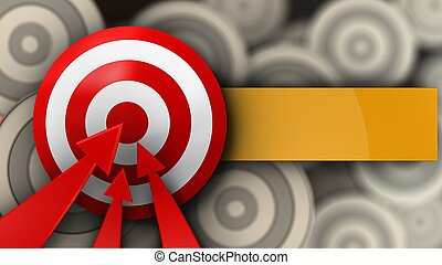 3d target with arrows