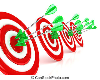 3d target with arrows over white background. Computer ...