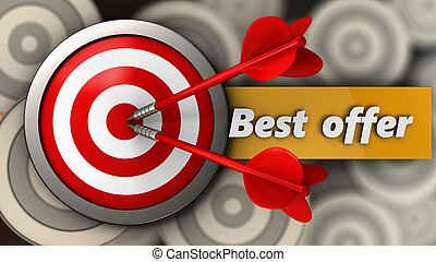 3d target with best offer sign