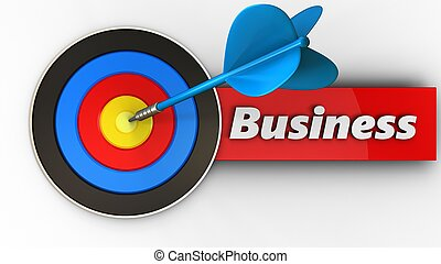 3d target with business sign