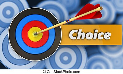 3d target with choice