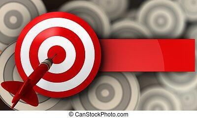 3d target with dart