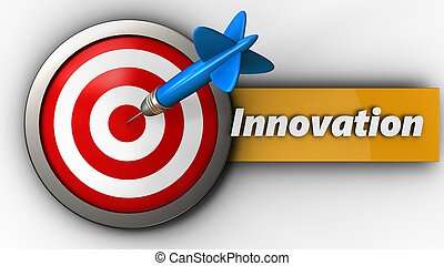 3d target with innovation sign