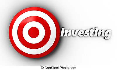 3d target with investing sign