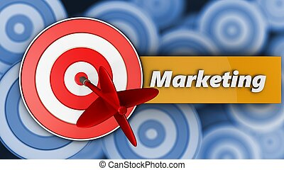3d target with marketing sign