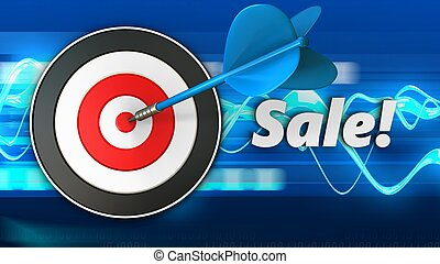 3d target with sale