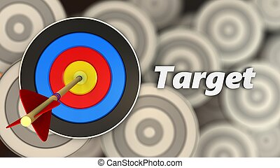 3d target with sign