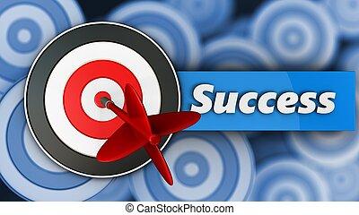 3d target with success