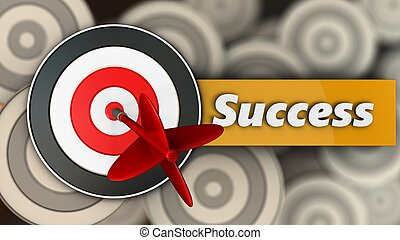 3d target with success