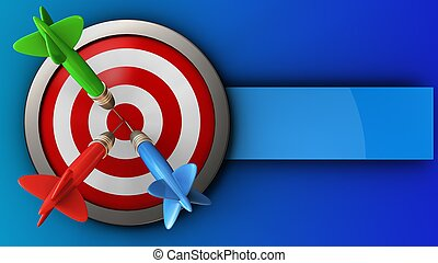 3d target with three darts